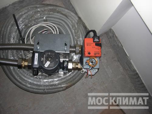 Диагностика работоспособности приточной установки.  Смесительный узел обвязки приточно-вытяжной установки.